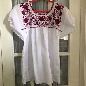 Tops - School spirit colors Mexican Blouse